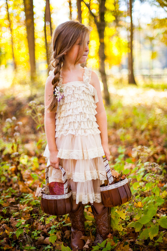 rustic flower girl