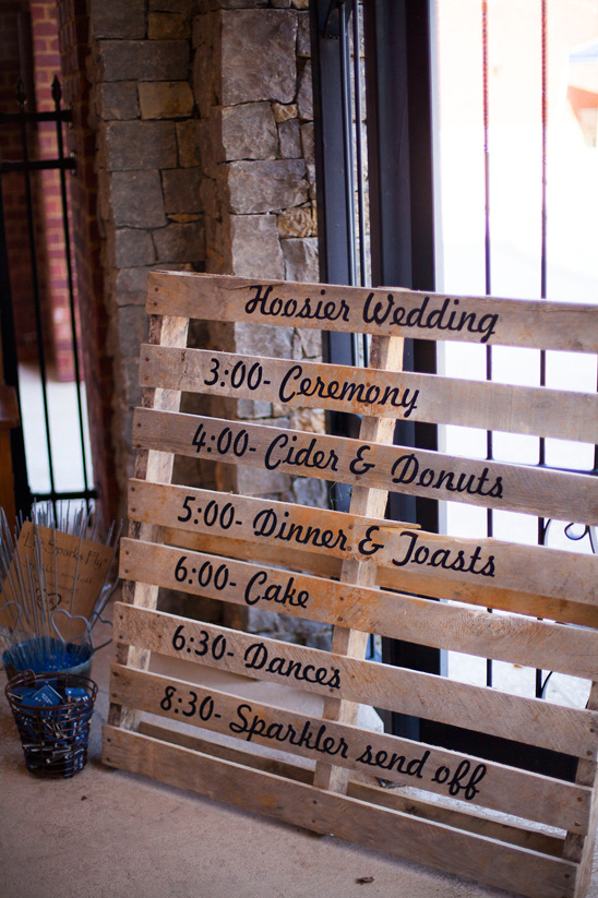 shipping pallet wedding sign