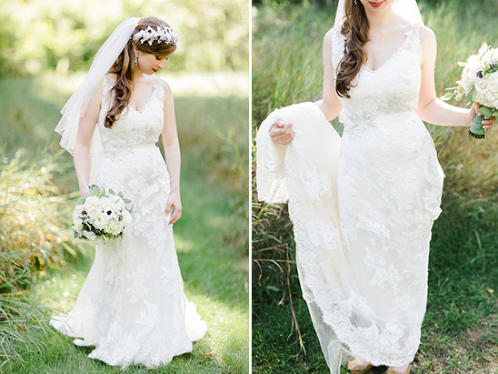 gorgeous lace overlay gown