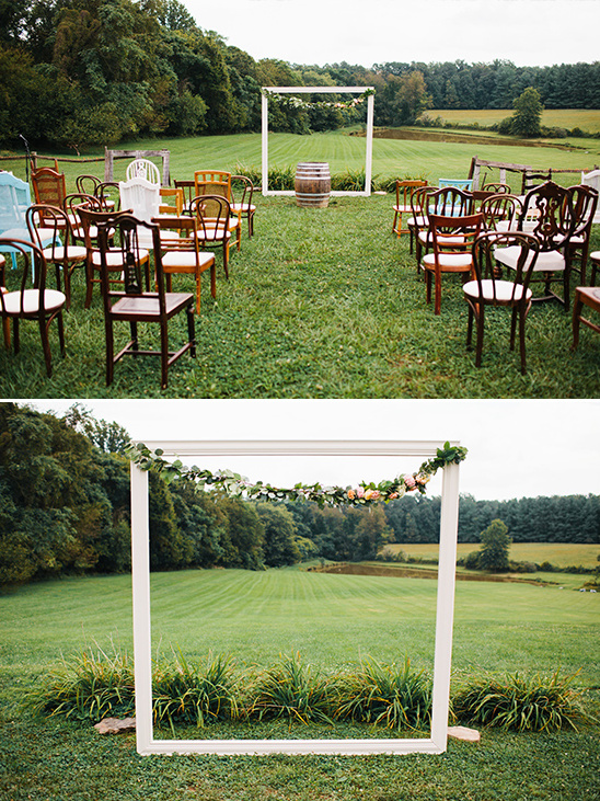 frame your surroundings ceremony backdrop