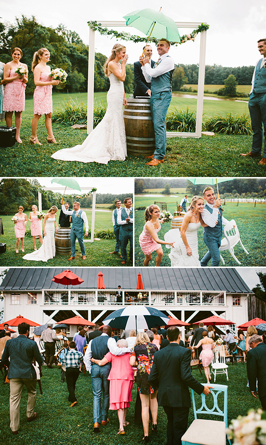 rained out wedding ceremony
