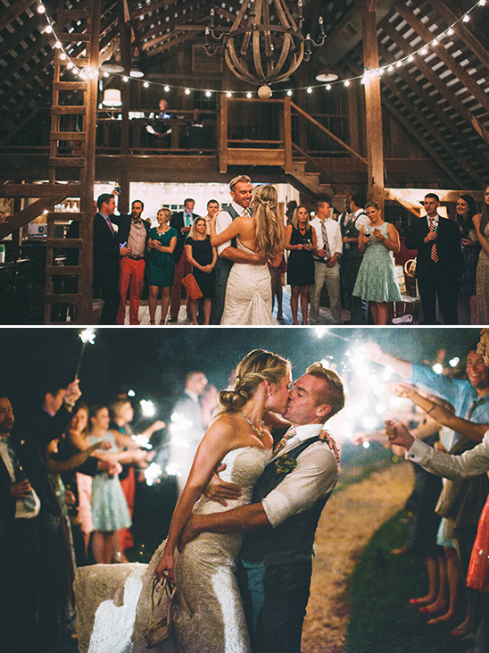 first dance and sparkler exit