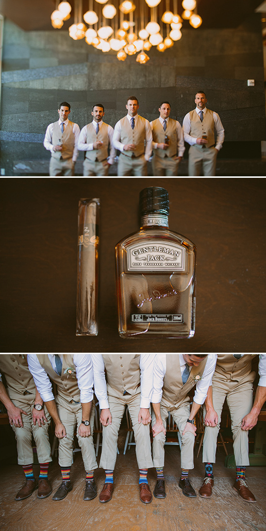 tan groomsmen and classy groom gift