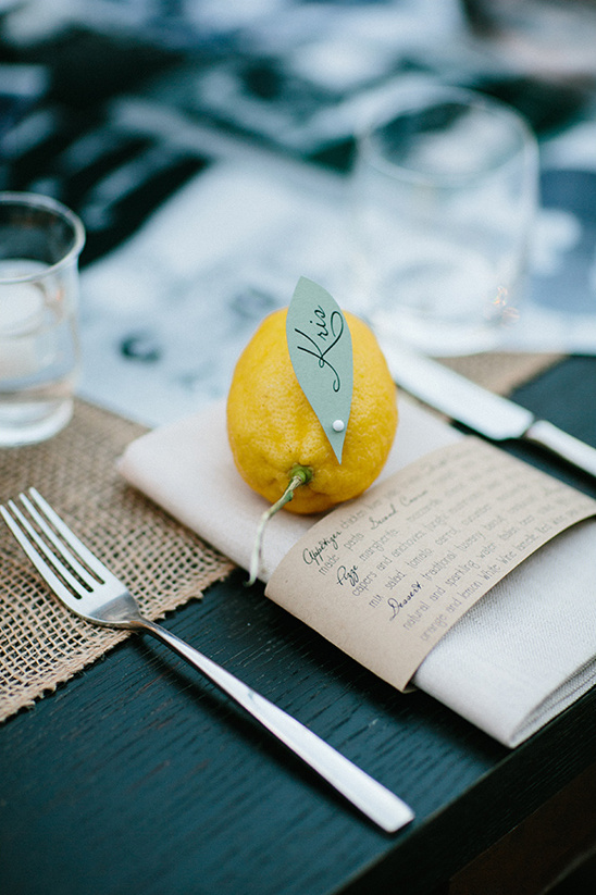 lemon place cards
