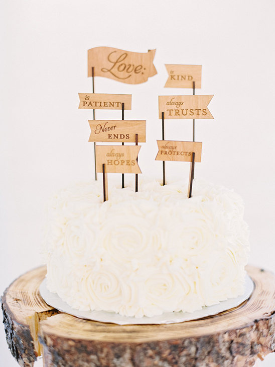 wooden wedding flag cake toppers