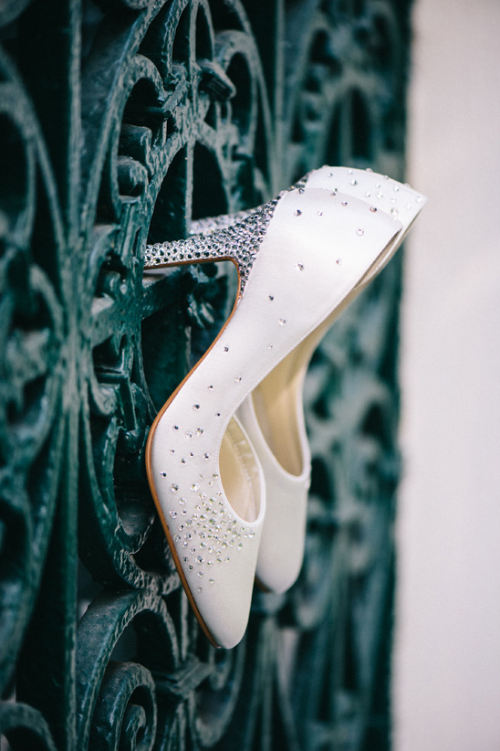 sparkly wedding shoes by Edita Rosenrot