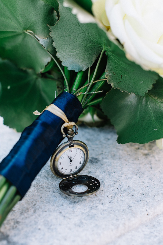 pocket watch bouquet pendent
