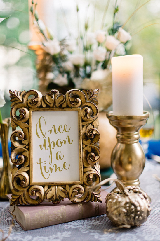 fairytale themed table decor