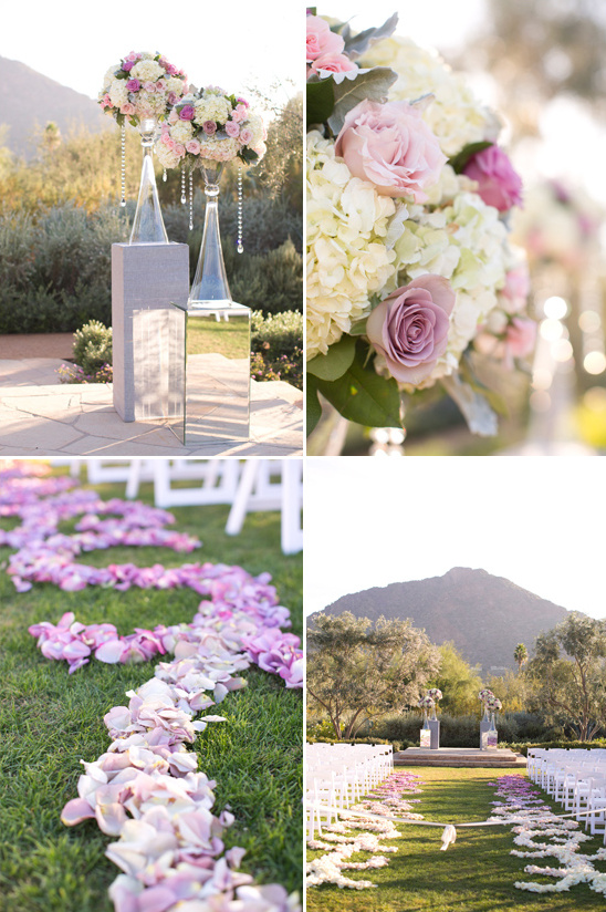 pink ombre wedding ceremony @weddingchicks