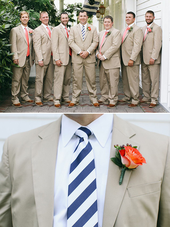 beige peach and navy groomsman looks @weddingchicks