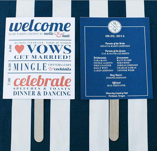 popsicle wedding menus @weddingchicks