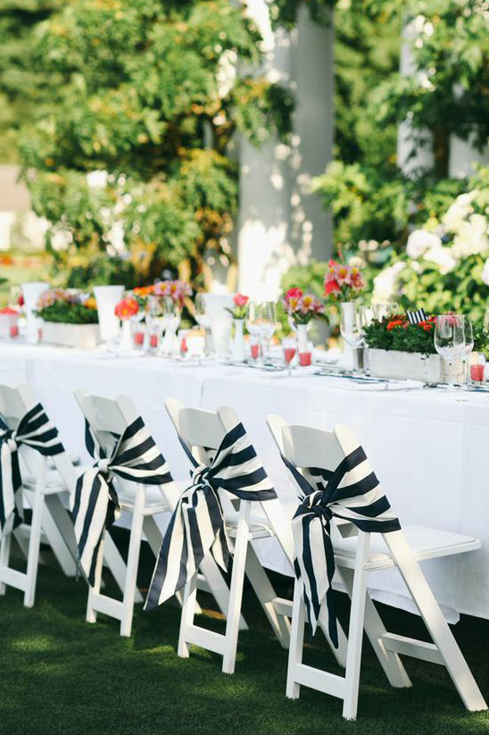 navy white wedding