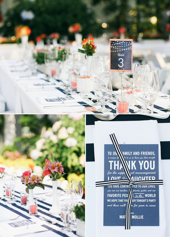 navy and orange wedding @weddingchicks