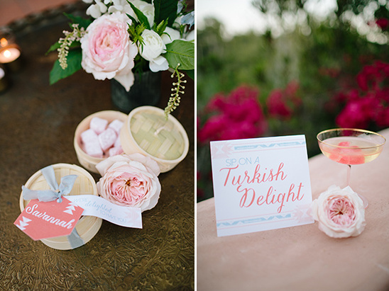 signature drink and wedding favor
