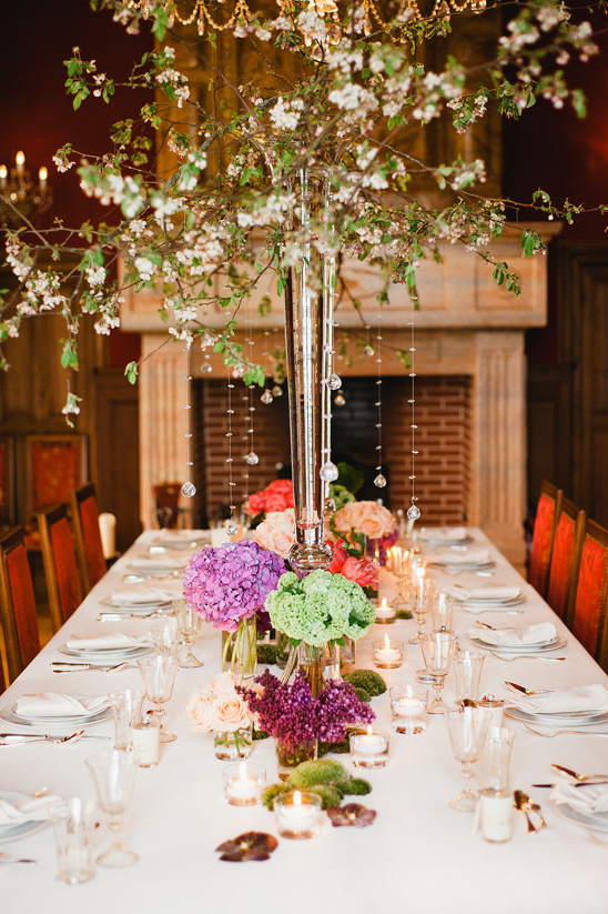 grand tree like centerpieces @weddingchicks