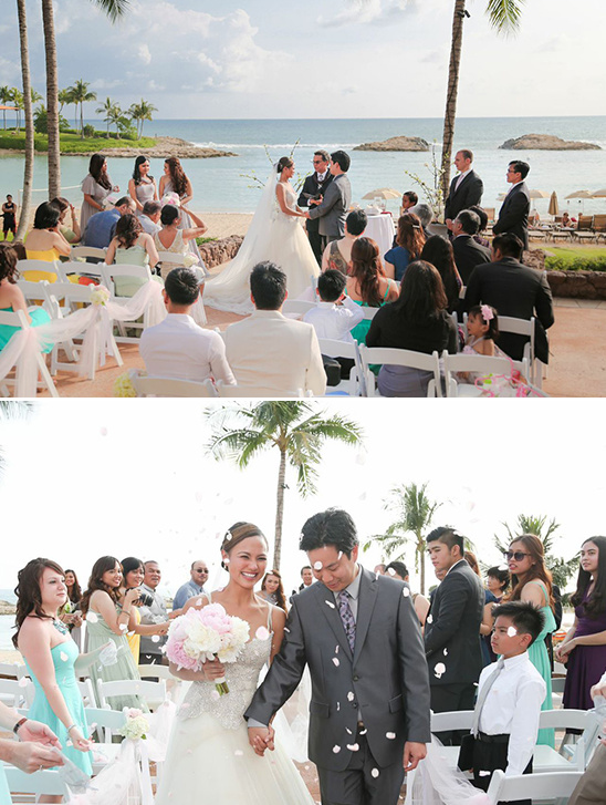 Disney wedding at the Aulani resort wedding