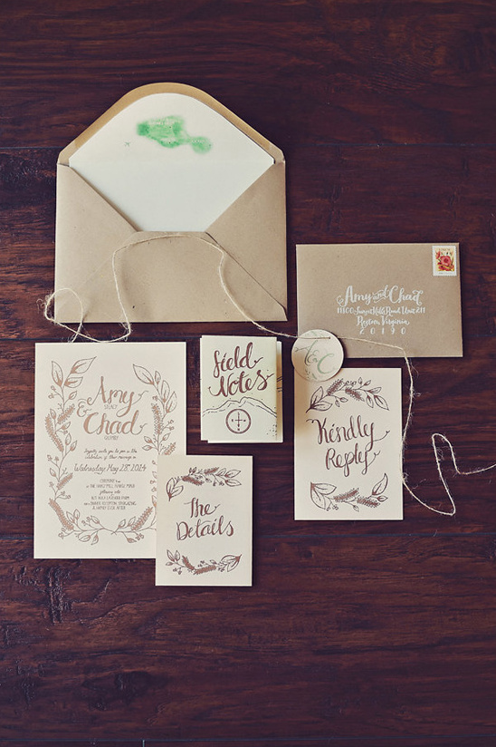 wedding stationery by Curious Me Design @weddingchicks
