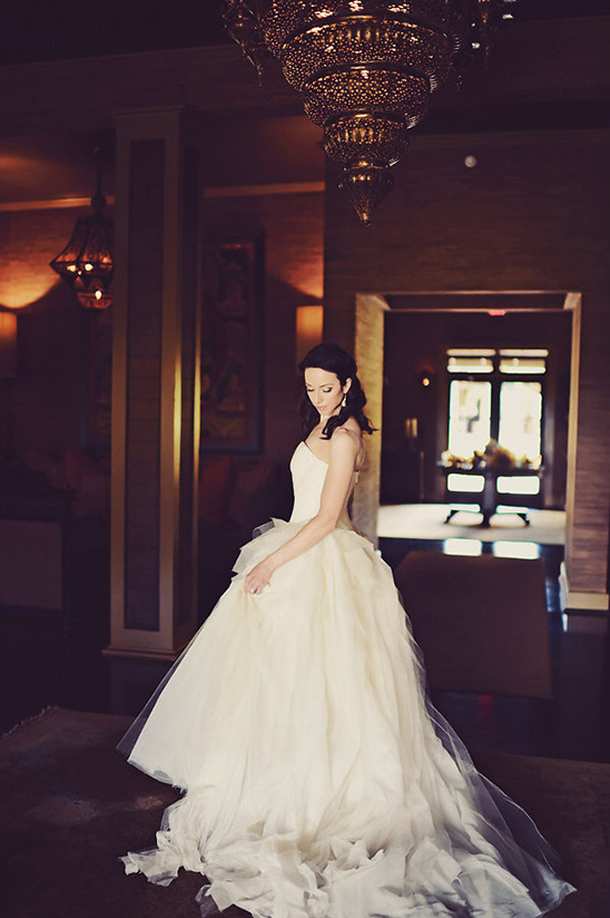 bridal in ball gown @weddingchicks