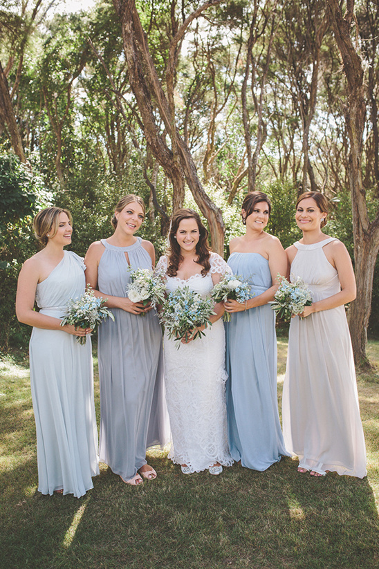 Blue bridesmaid dresses from The Dessy Group @weddingchicks
