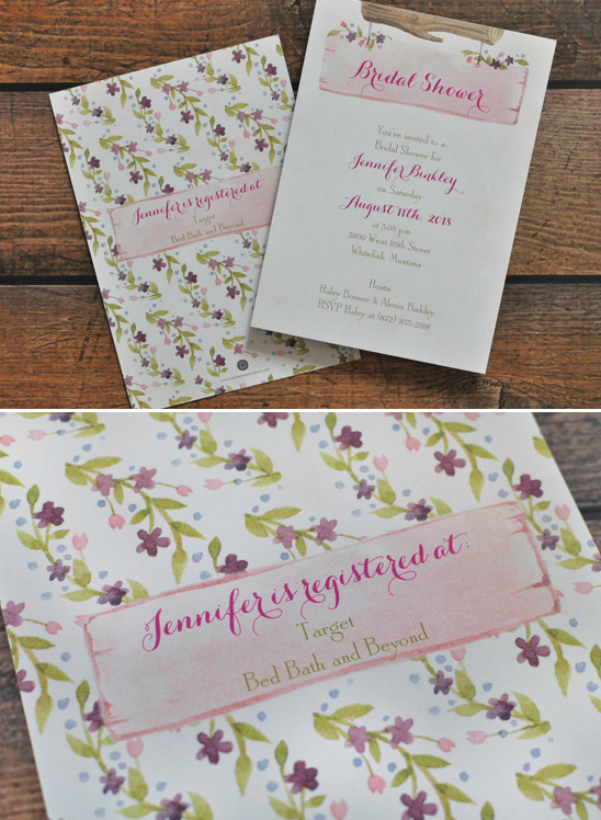 pink bridal shower wedding invites @weddingchicks