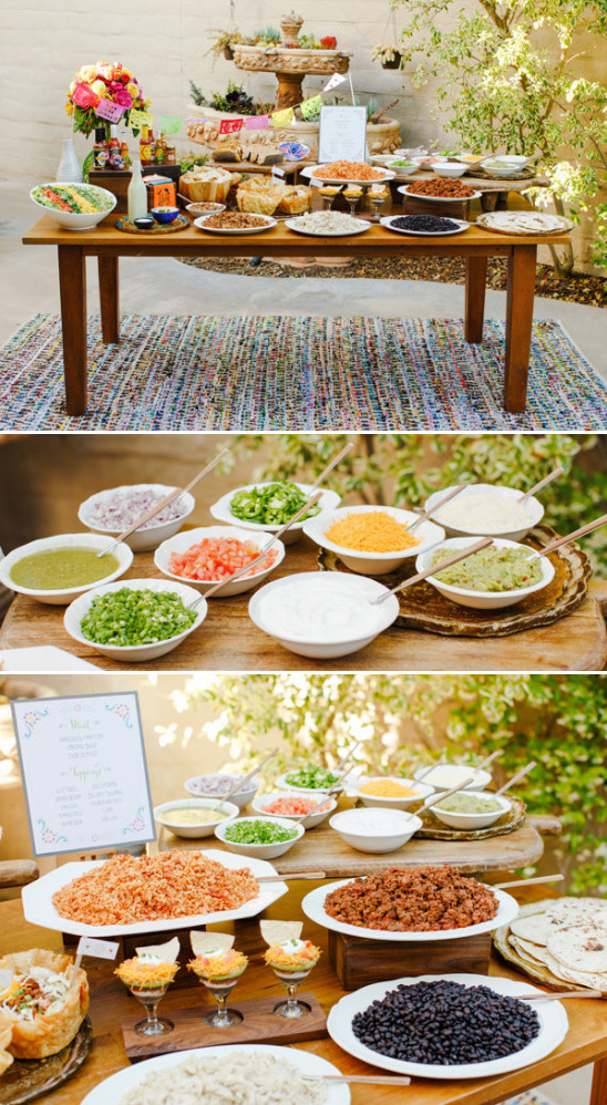 make your own taco bar @weddingchicks