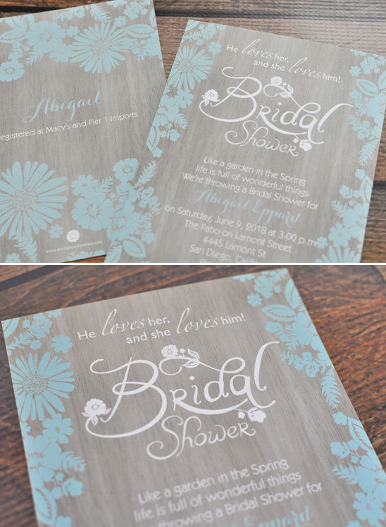 bridal shower inviations @weddingchicks