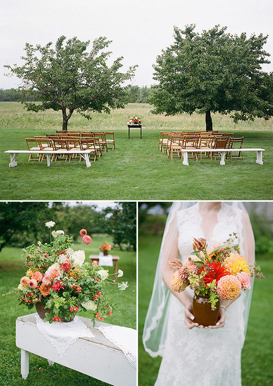 Sweet And Simple Ceremony Setup Weddings