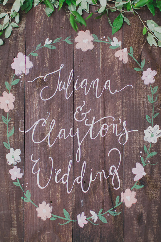 wooden wedding sign @weddingchicks