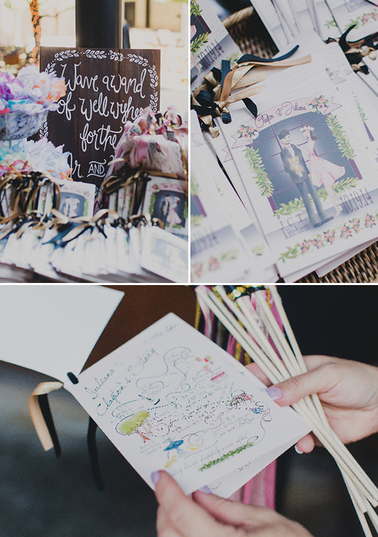 hand drawn wedding programs @weddingchicks