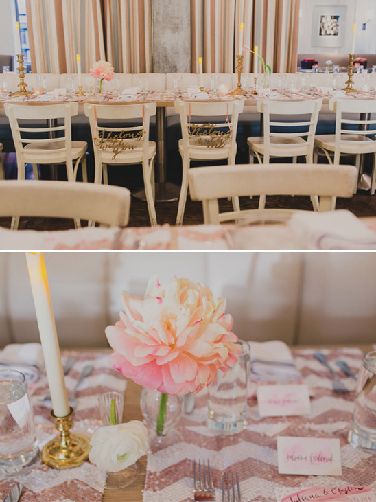 sweet modern table decor @weddingchicks