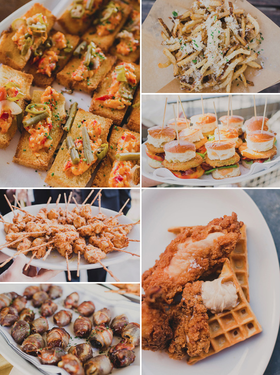 tastey wedding food @weddingchicks