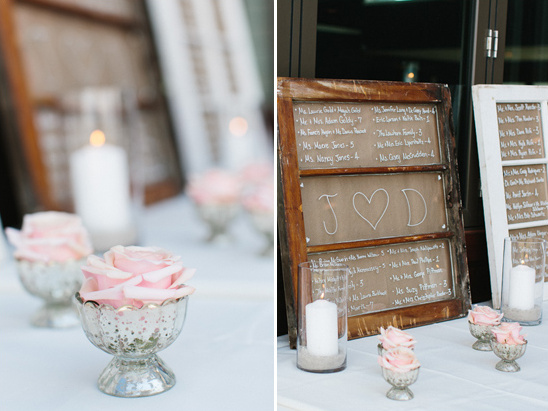 reception seating assignment display