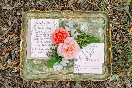 soft blush script wedding stationery @weddingchicks
