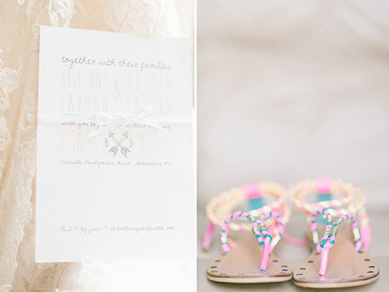 light and airy wedding stationery and funky fun wedding sandles @weddingchicks
