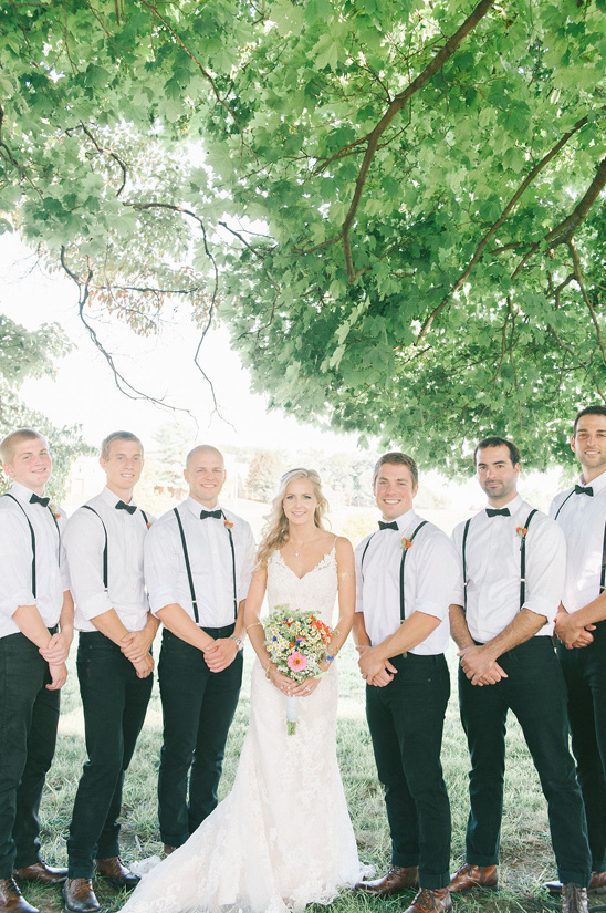 black white and suspender groomsmen @weddingchicks