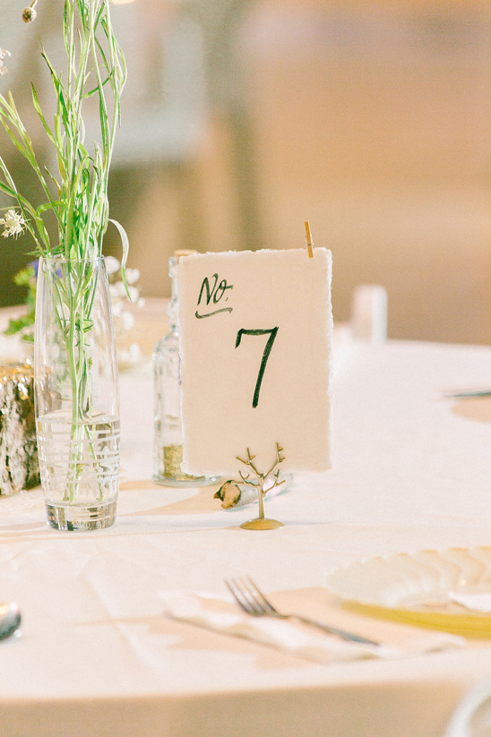 hand drawn table numbers @weddingchicks