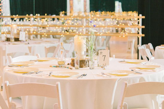 rustic indie glam reception decor
