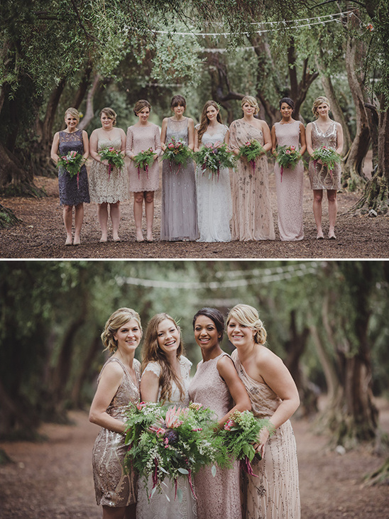 pink and grey bridesmaid dresses @weddingchicks