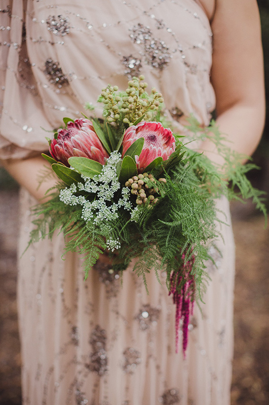 protea bridesmaid bouquet @weddingchicks