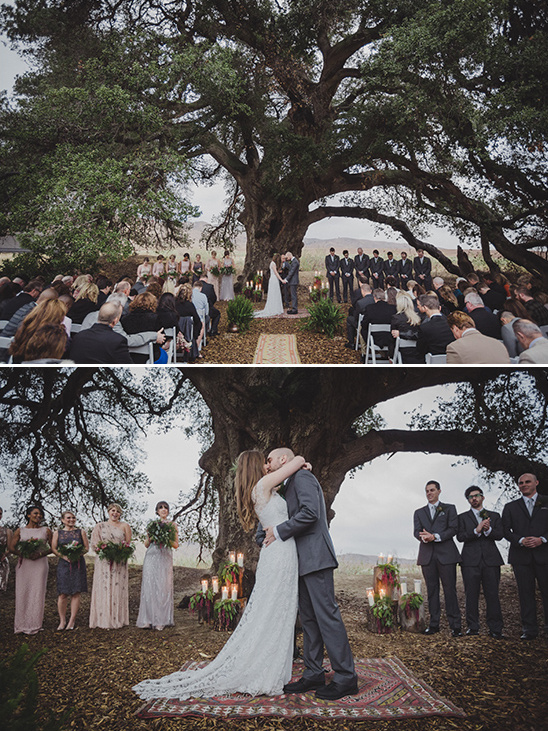 ceremony under a tree @weddingchicks