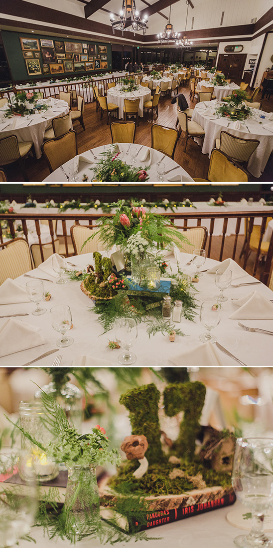 nature and book inspired centerpieces @weddingchicks