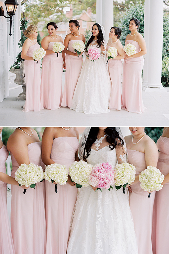pale pink bridesmaid dresses @weddingchicks