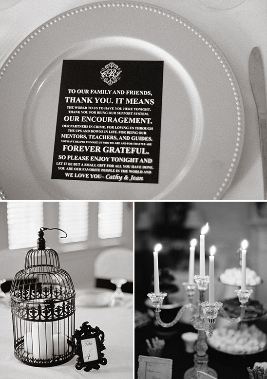 wedding thank you note and elegant table decor @weddingchicks