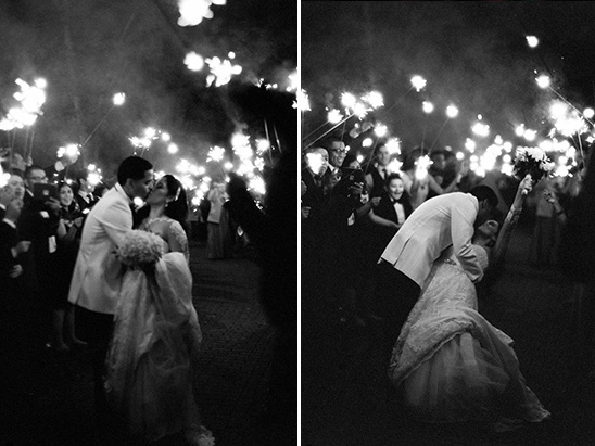 sparkler wedding exit @weddingchicks