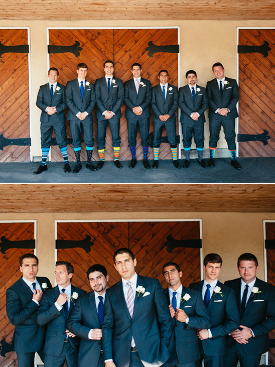 groomsmen with fun socks @weddingchicks
