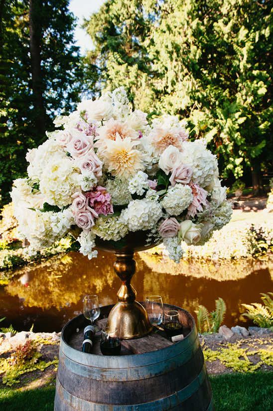 beautiful floral arrangement for ceremony @weddingchicks