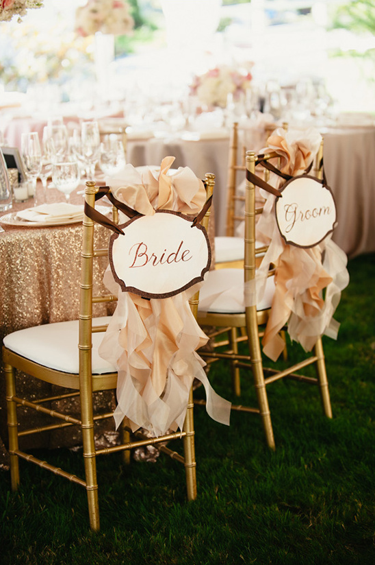 bride and groom chair signs idea @weddingchicks