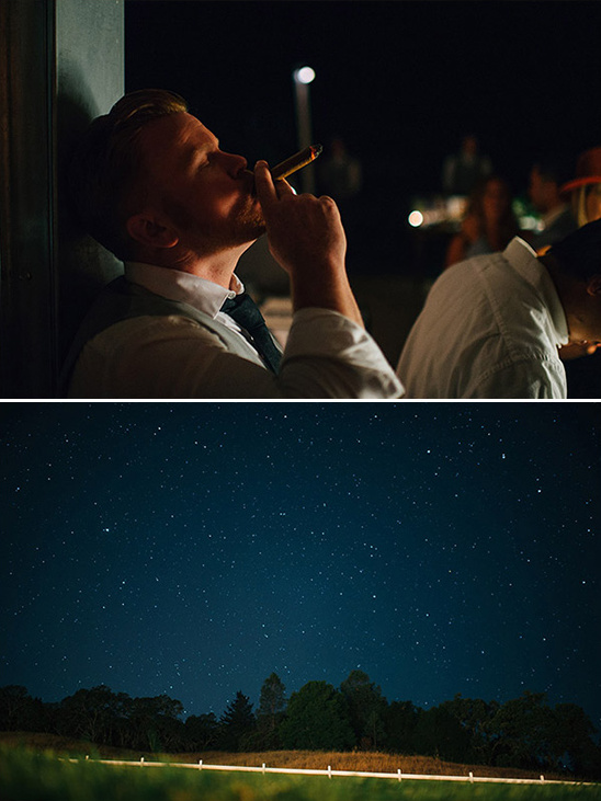 wedding cigars and beautiful night sky @weddingchicks