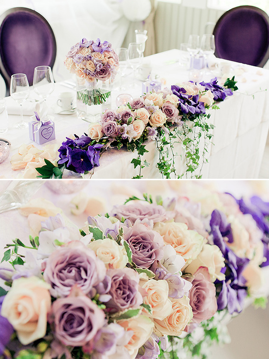 royal purple wedding decor @weddingchicks