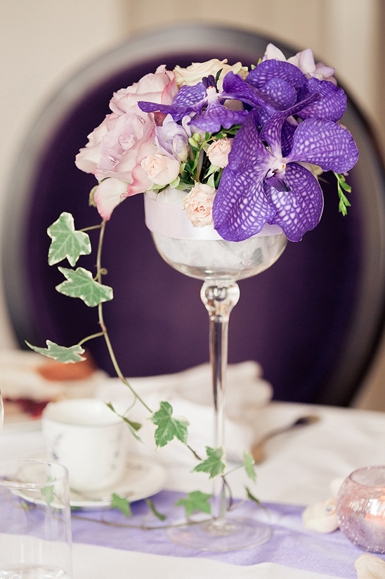 delicate floral centerpieces @weddingchicks